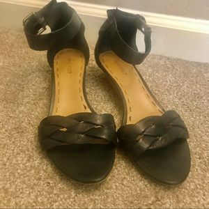 Nine West Faux Leather Strappy Sandals (black)